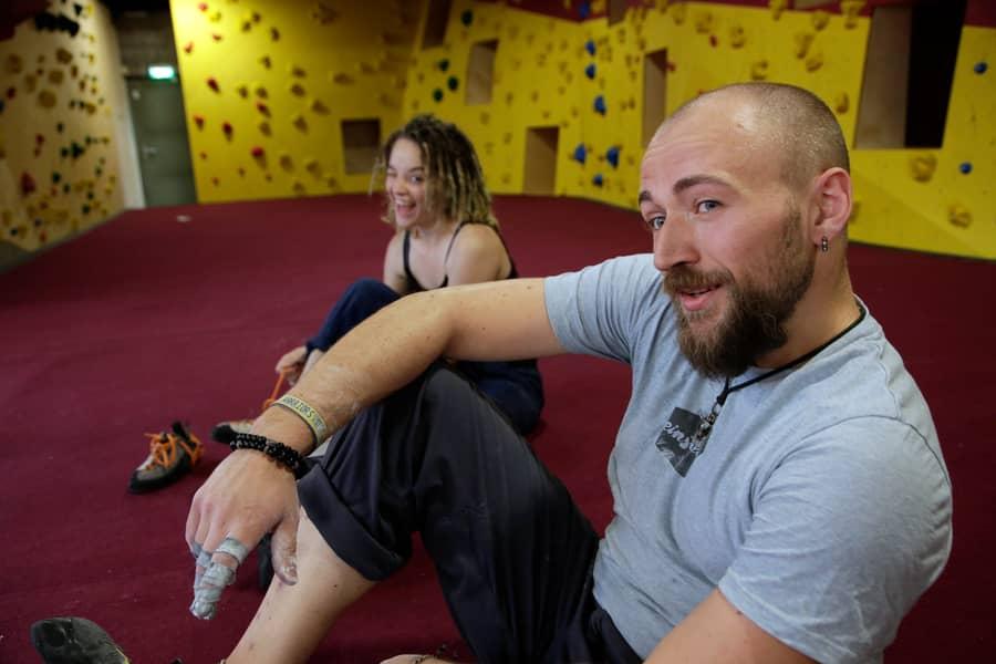 Spaß beim Klettern einstein Boulderhalle Dortmund Umkreis